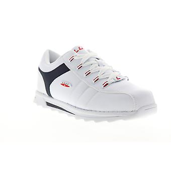 Lugz Blitz  Mens White Leather Lace Up Low Top Sneakers Shoes