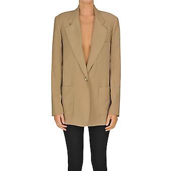 I.c.f. Ezgl456005 Women's Beige Polyester Blazer