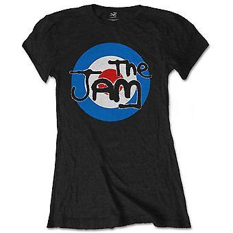 Ladies The Jam Paul Weller Black Logo Official T-Shirt Female