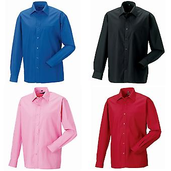 Russell Mens Long Sleeve Pure Cotton Work Shirt