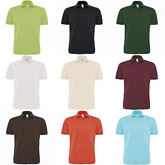 B&C Mens Heavymill Short Sleeve Cotton Polo Shirt