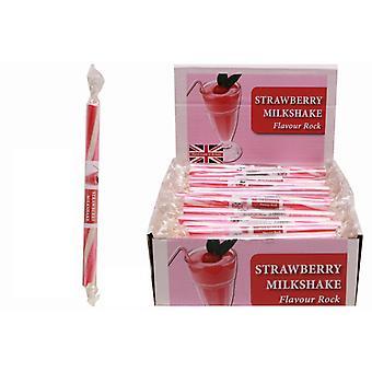 20 Small Flavoured Rock Sticks - Strawberry Milkshake Flavour