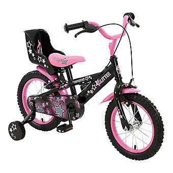 Townsend Glitter 14 Inch Bike With Pneumatic Tyres and Removable Stabilisers
