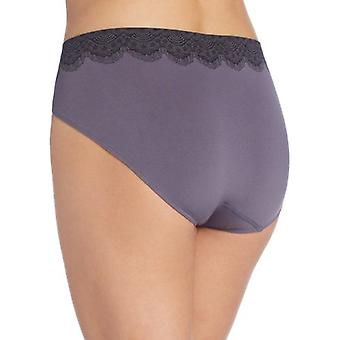 Bali Women's One Smooth U All Over Smoothing Hi Cut Panty,, Black, Size 9.0