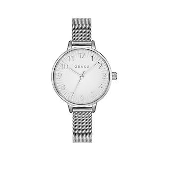 Obaku Syren Steel Women's Mesh Strap Wristwatch V237LXCIMC