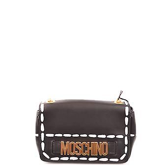 Moschino Ezbc015120 Women's Black Leather Clutch