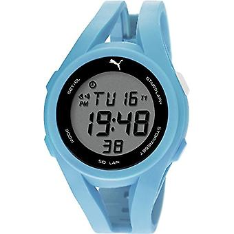 Cougar Time Airy wrist watch, digital, plastic band, light blue