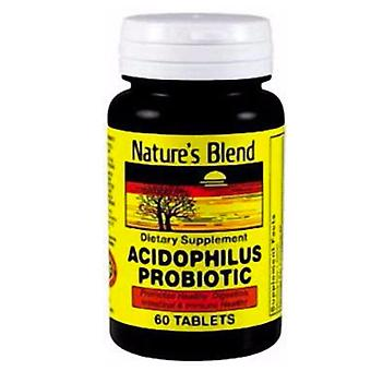 Nature's blend acidophilus probiotic, tablets, 60 ea