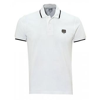 Kenzo Tiger Crest White Polo Shirt
