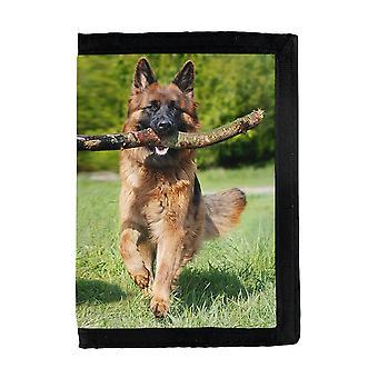 الألمانية الألمانية الألمانية الراعي الكلب محفظة
