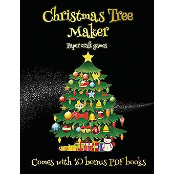 Paper craft games (Christmas Tree Maker) - This book can be used to ma