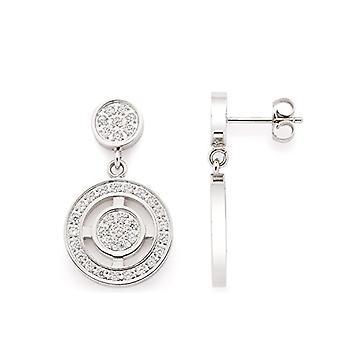 LEONARDO JEWELS Women's stainless glass stud earrings