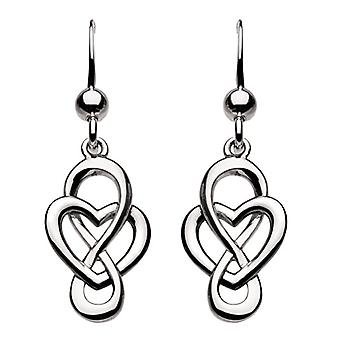 Heritage - Pendant earrings - silver Sterling - pattern: braided heart - silver - color: silver - cod. 6207HP