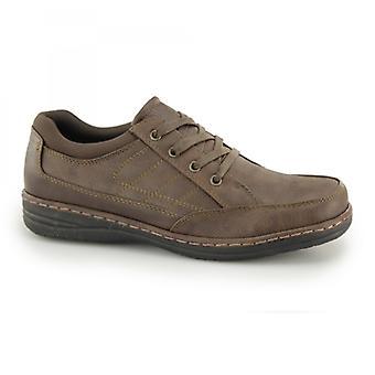 Dr Keller Jericho Mens Lace Up Wide Fit Shoes Brown