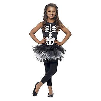 Jenter Skeleton Tutu Fancy Dress kostyme Halloween antrekk