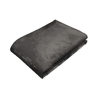 Shiny charcoal grey crushed velvet table runner