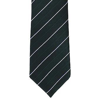 Michelsons of London Micro csíkos selyem tie-zöld