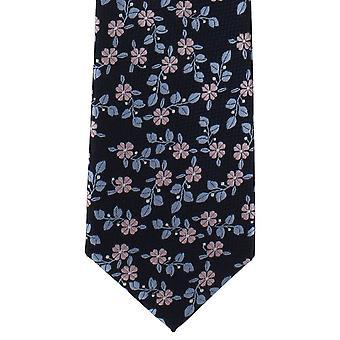 Michelsons di Londra foglia floreale poliestere cravatta - rosa