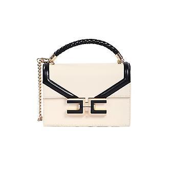 Elisabetta Franchi Bs38a01e2e84 Damen's Beige/schwarz Polyester Handtasche
