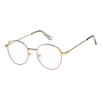 Anti Blue Light Lunettes, Oreilles de chat - Rose / Or