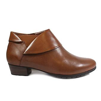 Gerry Weber Carmen 10 Tan Leather Womens Wide Fit Ankle Boots