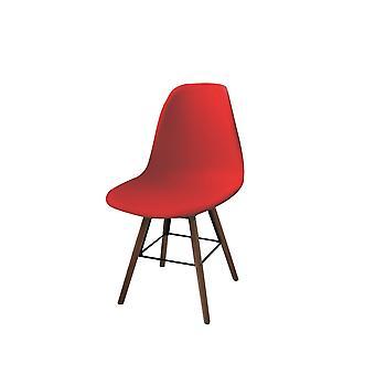Crissy Stol Färg Röd, Polypropylen Trä, Trä 42x49x81 cm