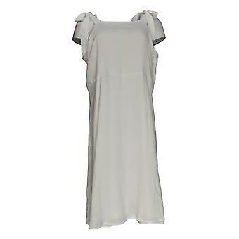 K Jordan Dress Square-Neck Woven Sleeveless Bright White