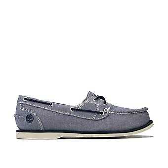 Women's Timberland Classic Canvas Boat Shoes in Blue