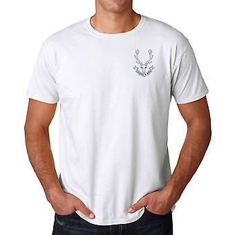Seaforth Highlanders Stickerei Logo - offiziellen britischen Armee Ringspun-T-Shirt