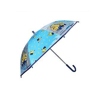 Kinder's Minions Party Blauer Regenschirm