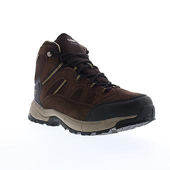 Hi-Tec Red Rock Mid Waterproof  Mens Brown Suede Hiking Boots Shoes