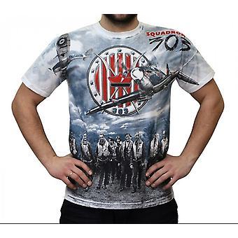 Aquila-Spitfire Squadron 303 biela-t-shirt