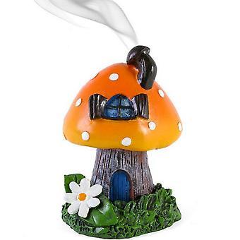 Lisa Parker Orange rökning Toadstool rökelse kon brännare