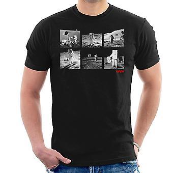 NASA Apolo 11 Landing foto's T-Shirt voor mannen