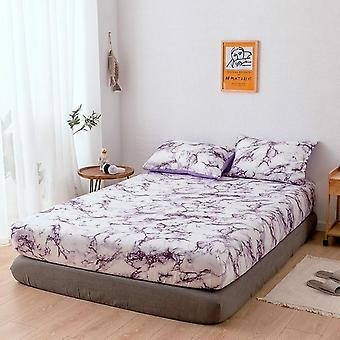 Marble Pattern Mattress Protective Case Fitted Sheet And Pillowcase