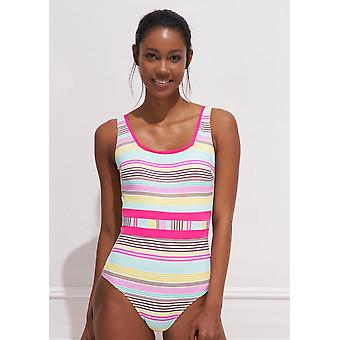 Aqua Perla Womens Anis SPF50+ Pastel Colors One Piece Swimwear