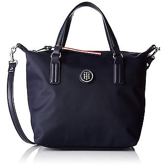 Tommy Hilfiger Womens Poppy Small Tote Unisex Shoulder Bag in Navy