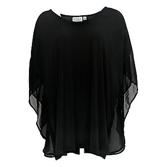 Joan Rivers Classics Collectie Women's Plus Flowy Sleeves Black A303950