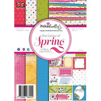 Polkadoodles Colour of Spring A5 Paper Pack (PD 7540) (PD7450a)