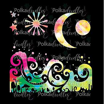 Polkodoyles Magic Moon 6x6 Pouces Pochoir