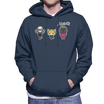 Aggretsuko Gori Washimi Retsuko Men's Hooded Sweatshirt