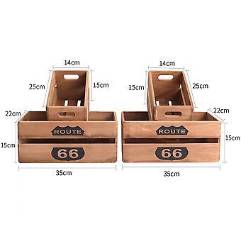 Rebecca Möbel Set 4 Boxen Holz 15x35x22