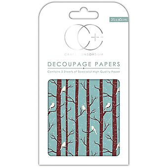 Craft Consortium Winter Woodland Decoupage Papers