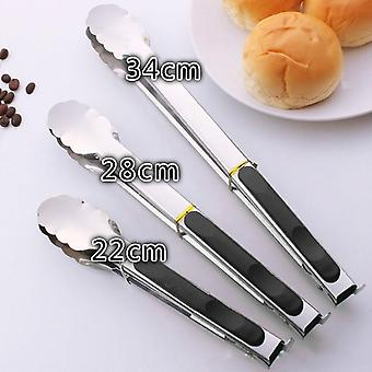 Kitchen Accessories Barbecue Salad Food Clip Tongs Stainless Steel Kitchen