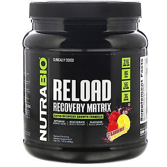 NutraBio Labs, Recharge Recovery Matrix, Strawberry Lemon Bomb, 1,91 lb (868 g)