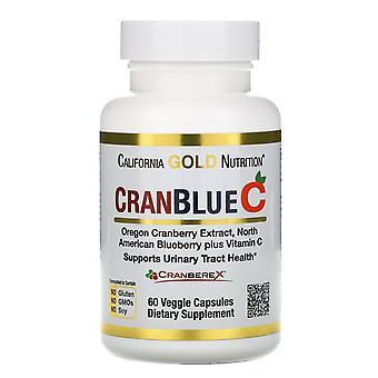 California Gold Nutrition, CranBlueC, Cranberry, Blueberry, Vitamin C, 60 Veggie