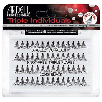 Ardell Duralash Knot Free Triple Flares - Long Black - Eye Opening Curl Lashes
