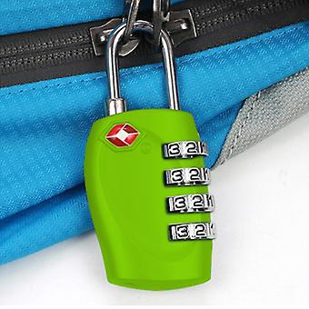 TRIXES 4-Dial TSA Green Combination Luggage Padlock for Suitcases