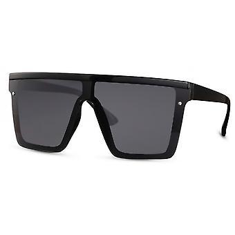 Sonnenbrille Unisex  rechteckig   Kat. 3 schwarz