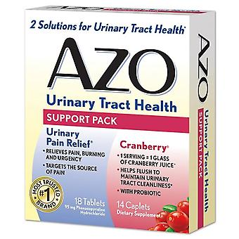 Azo urinary tract health, support pack, 18 tablets, 14 caplets *